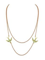 Недорогие -Жен. Стразы Слоистые ожерелья  -  Классический Мода В форме линии Золотой Ожерелье Назначение Повседневные Новый год