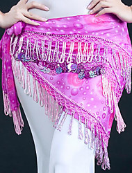 cheap -Belly Dance Ordinary Women's Training Polyester Belt Paillette Hip Scarf
