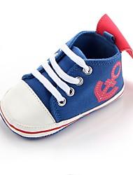 Недорогие -Мальчики Обувь Ткань Весна Удобная обувь / Обувь для малышей / Пинетки Кеды На эластичной ленте для Черный / Тёмно-синий