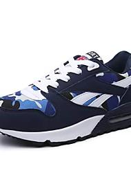 baratos -Mulheres Sapatos Tule Primavera / Outono Solados com Luzes / Conforto Tênis Sem Salto Ponta Redonda Combinação para Ao ar livre Preto /