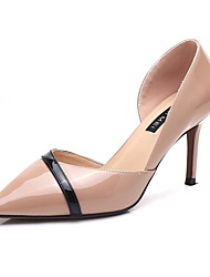 cheap -Women's Shoes Synthetic Microfiber PU Spring Fall Gladiator Heels Stiletto Heel Pointed Toe for Dress Nude