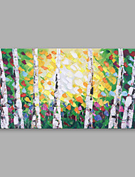 cheap -Oil Painting Hand Painted - Floral / Botanical Modern Canvas