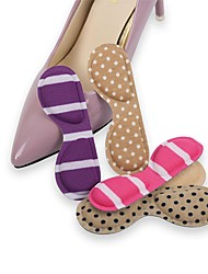 cheap -1 Pair Wearable Orthotic Insole & Inserts Nylon Heel Unisex Purple Blue Pink Almond White/Green