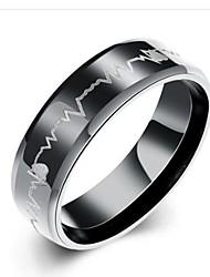 preiswerte -Herrn Edelstahl Bandring - Kreisform Modisch Schwarz Ring Für Geschenk / Alltag