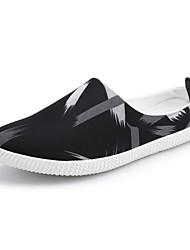 baratos -Homens sapatos Tule Primavera / Outono Conforto Tamancos e Mules Branco / Preto / Preto / Vermelho / Black / azul