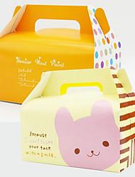 Недорогие -Square Shape Картон Крафт-бумага Фавор держатель с Коробочки Упаковка и коробки для кексов - 1шт
