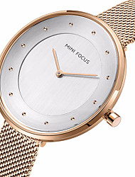 cheap -MINI FOCUS Women's Fashion Watch Japanese Quartz Casual Watch Stainless Steel Band Minimalist Elegant Black Blue Silver Gold Rose Gold
