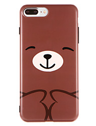 Capinha Para Apple iPhone X iPhone 8 IMD Estampada Capa traseira Animal Macia TPU para iPhone X iPhone 8 Plus iPhone 8 iPhone 7 Plus
