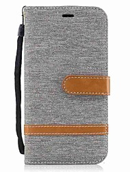 cheap -Case For Motorola MOTO G5 Plus MOTO G4 Plus Card Holder Wallet Shockproof with Stand Flip Full Body Cases Solid Color Hard Textile for