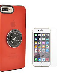 Недорогие -Кейс для Назначение Apple iPhone 8 iPhone 8 Plus Кольца-держатели Сплошной цвет Твердый ПК для iPhone 8 Pluss iPhone 8 iPhone 7 Plus