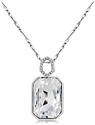 abordables -Mujer Cristal / Zirconia Cúbica Collares con colgantes - Cristal, Zirconio, Plateado Clásico Plata Gargantillas 1 Para Fiesta, Formal
