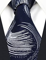 abordables -cravate en rayonne de travail pour hommes - jacquard de couleur géométrique