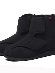 cheap -Men's / Unisex Wool Winter Comfort Boots Booties / Ankle Boots Black