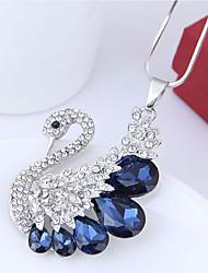 Недорогие -Жен. Ожерелья с подвесками  -  Лебедь европейский, Мода Темно-синий, Серый Ожерелье Назначение Для вечеринок