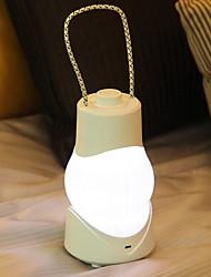 billige Originale lamper-1pc LED Night Light Varm Hvit Hvit Innebygd Li-batteridrevet USB Port Oppladbar Kreativ nyhet Bedside Dekorasjon Med USB-port