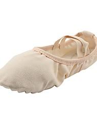 baratos -Sapatilhas de Balé Lona Sapatilha Sem Salto Personalizável Sapatos de Dança Bege / Ensaio / Prática