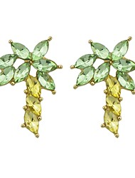 cheap -Women's Rhinestone Imitation Tourmaline Drop Earrings - Casual Fashion Coconut Tree For Daily Date