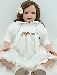 cheap -NPK DOLL Reborn Doll Baby 24 inch Silicone / Vinyl - lifelike, Hand Applied Eyelashes, Tipped and Sealed Nails Kid's Girls' Gift / CE Certified / Natural Skin Tone / Floppy Head