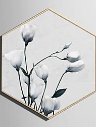 baratos -Paisagem Floral/Botânico Ilustração Arte de Parede,Plástico Material com frame For Decoração para casa Arte Emoldurada Sala de Estar