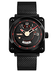 cheap -SKMEI Men's Quartz Sport Watch Japanese Water Resistant / Water Proof Stainless Steel Band Luxury Vintage Black