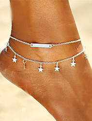 cheap -Star Bohemian Anklet - Women's Gold / Silver Bohemian / Fashion Anklet For Gift / Bikini / Going out