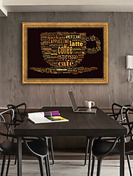 cheap -Abstract Food Illustration Wall Art,Plastic Material With Frame For Home Decoration Frame Art Living Room