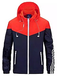 cheap -Men's Jacket - Geometric, Patchwork