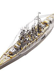 baratos -Quebra-Cabeças 3D Quebra-Cabeças de Metal Militar Encouraçado Aço Inoxidável Metal 1pcs Barco Crianças Adulto Dom