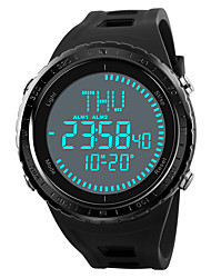 cheap -SKMEI Men's Sport Watch / Military Watch / Digital Watch Japanese Alarm / Chronograph / Water Resistant / Water Proof PU Band Casual Black / Green / Grey / Compass / Stopwatch