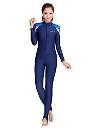 economico -Bluedive Per donna Muta da sub Asciugatura rapida Resistente ai raggi UV Zip anteriore Crema solare Cerniera YKK Chinlon Abbigliamento
