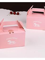 Недорогие -Square Shape Картон Фавор держатель с Коробочки Упаковка и коробки для кексов - 1шт