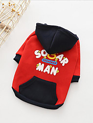 cheap -Dogs Hoodie Dog Clothes Quotes & Sayings Red Black Cotton Costume For Pets All Japan and Korea Style Warm Ups