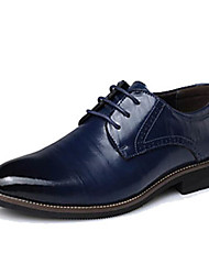 cheap -Men's Shoes Real Leather Cowhide Spring Fall Formal Shoes Oxfords Split Joint For Office & Career Party & Evening Blue Brown Yellow Black