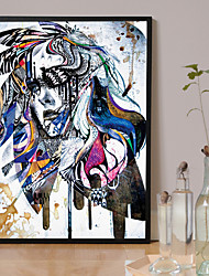 Недорогие -Роликовые холсты Modern, 1 панель холст Квадратный С картинкой Декор стены Украшение дома