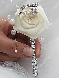 preiswerte -Hochzeitsblumen Knopflochblumen Hochzeit Veranstaltung / Fest Satin 7 cm ca.