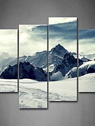abordables -Impressions sur toile roulées Classique Moderne, Quatre Panneaux Toile Panoramique vertical Imprimé Décoration murale Décoration