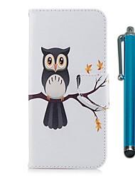 abordables -Coque Pour Motorola G5 Plus G5 Porte Carte Portefeuille Avec Support Clapet Magnétique Coque Intégrale Chouette Dur faux cuir pour Moto