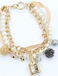 economico -Per donna Perle Bracciali con ciondoli - Perle finte Di tendenza Bracciali Oro Per Quotidiano Per uscire