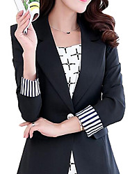 cheap -Women's Blazer - Solid Colored, Classic