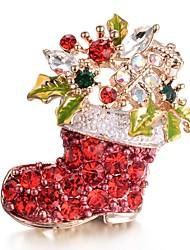 Недорогие -Жен. Цирконий Броши - Милая Красный Брошь Назначение Рождество / Подарок / Новый год