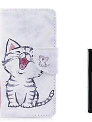 Недорогие -Кейс для Назначение SSamsung Galaxy J7 (2017) / J5 (2017) / J5 (2016) Кошелек / Бумажник для карт / Флип Чехол Кот Твердый Кожа PU