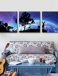 Недорогие -Холст для печати Modern, 3 панели холст Квадратный С картинкой Декор стены Украшение дома