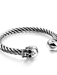 cheap -Men's Bangles - Stainless Steel Hip-Hop Bracelet Silver For Daily