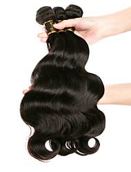 Недорогие -3 Связки Бразильские волосы Свободные волны Не подвергавшиеся окрашиванию Человека ткет Волосы Ткет человеческих волос 8а Расширения человеческих волос
