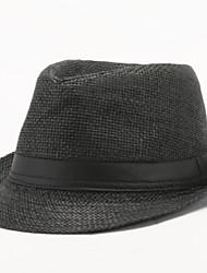 Недорогие -Муж. Винтаж Шляпа от солнца Однотонный / Хлопок / Лето