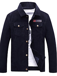 cheap -Men's Jacket - Solid, Oversized