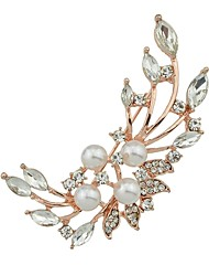cheap -Women's Brooches , Rhinestone Imitation Pearl Simple Basic Alloy Flower Jewelry For Daily New Year