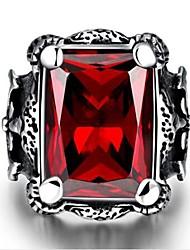 preiswerte -Herrn Bandring Synthetischer Rubin Modisch Edelstahl Geometrische Form Modeschmuck Geschenk Alltag