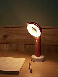 abordables -1pc LED Night Light Rechargeable Intensité Réglable Capteur tactile Avec port USB Chevet Batterie Li intégrée Port USB Blanc Crème