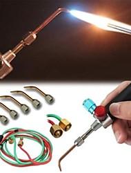 abordables -smith nueva soldadura superior de la antorcha de gas soldadura pequeña soldadura de la antorcha con 5 puntas de soldadura